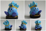 Custom Ice Kirby Amiibo (Version 2) by PixelCollie