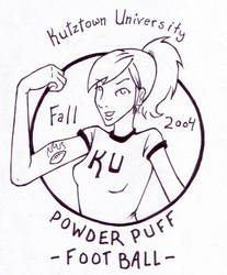 Powderpuff football shirt by flaming0swizle