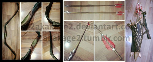 Tauriel Elven bow and arrow ~ by 2akakage2