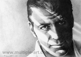 Pencil Drawing George Clooney by artbydawnkoh