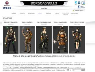Borgoagnello web site e SteampunkItalia by Steampunk-Italia