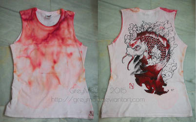 Red koi fish top tank - Hand painted by GreyM83