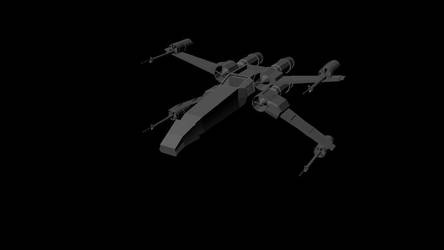Starwars Xwing spaceship by rope345