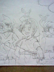 Four Kokiri - Link by CatriamFlockentanz