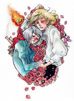 Howl and Sophie by Android-Bones