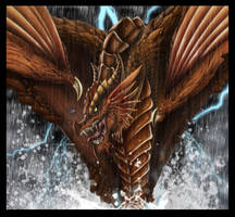 Dragon in the Rain by snosauges