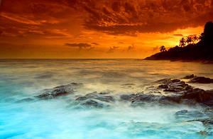 tropical sunrise by MarcioCabral