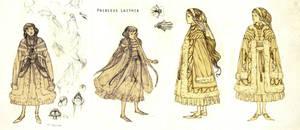 Princess character studies by JMichek