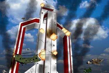 the fall of Omega Base by staroftheworld