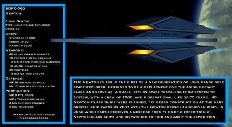 Newton Class Starship by staroftheworld