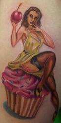 Cupcake Pinup Girl by Art-of-Matt-Vazquez