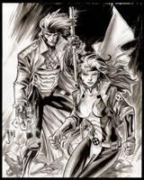 Gambit and Rogue by manapul