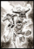 Kid Flash and friends by manapul