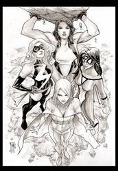 Women of Marvel by manapul