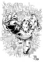 Livsay Inks Iron Man by manapul