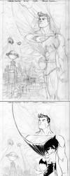 Superman Batman Cover Process by manapul