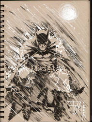 Drink and Draw Batman by manapul