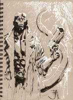Drink and Draw Hellboy by manapul