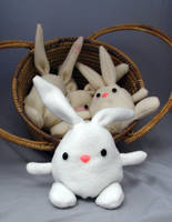 Mr Snow Bunny stuffed animal by csgirl