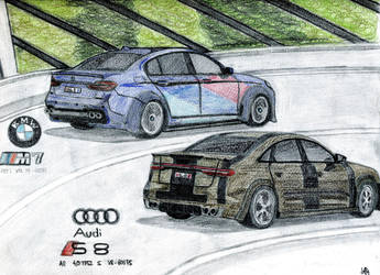 BMW M7 - Audi S8 by Sandro98ch