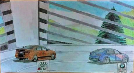 Race on the Sunniberg bridge by Sandro98ch