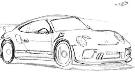 Sketch Porsche 911 by Sandro98ch