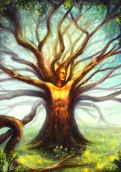 Tree spirit Oak tree by LouisDyer