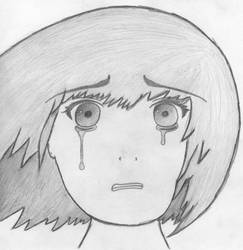 Crying Manga Girl - Miki Based by TasBlue