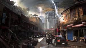 Street Under Fire by jimmyjimjim