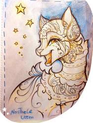 Golden tongue, porcelain body by NeriTheKitten
