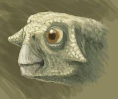Little Psittacosaurus by olofmoleman