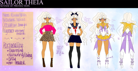 Sailor Theia Reference Sheet! by ai-sanura