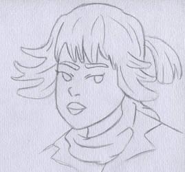 Rose Tico Sketch - Star Wars the Last Jedi by Artsomethingx