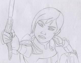 Sabine Wren Sketch #4 - Star Wars Rebels by Artsomethingx