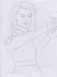 Melinda May Sketch - Agents of Shield by Artsomethingx