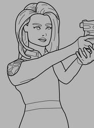 Melinda May Lineart - Agents of Shield by Artsomethingx
