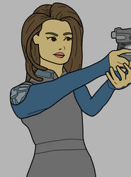 Melinda May Progress - Agents of Shield by Artsomethingx