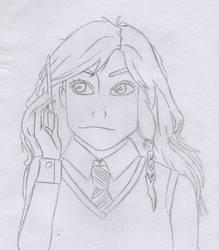 Luna Lovegood Sketch - Harry Potter by Artsomethingx