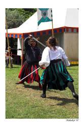 Sword fight by malaskor