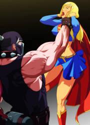 Supergirl strangulation by Raliuga999