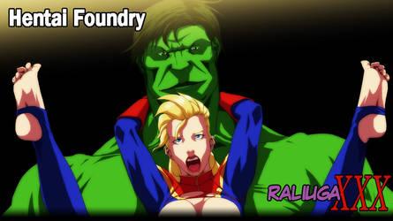 Hulk vs Captain Marvel by Raliuga999
