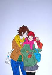 akaiki winter hugs by mardokk5