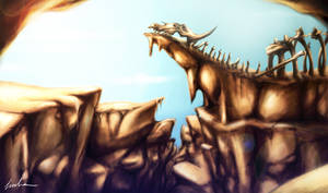 Sleeping Giant's Peak by BlackDragon-kin