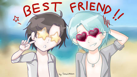 V and Jumin: Best Bud's Glasses by SimuLANtion