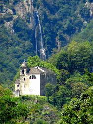 Church and Waterfall by Geotripper