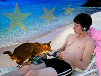 Beach Boy and the Orange Cat by slut900