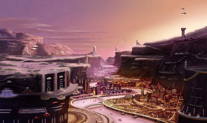 Klomin, the City of River Rock by SeekHim
