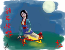 Mulan-Year of Dragon by TheSwirlyJ