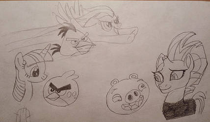 MLP and Angry Birds by jebens1