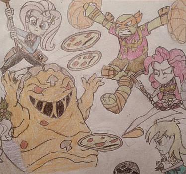 Pizza Fight by jebens1